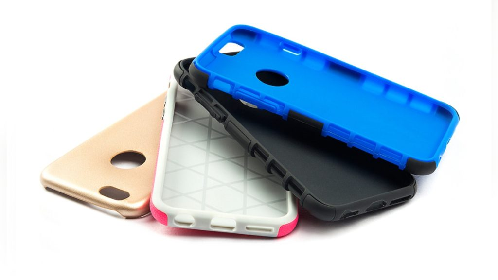 Phone cases, piled, silicone