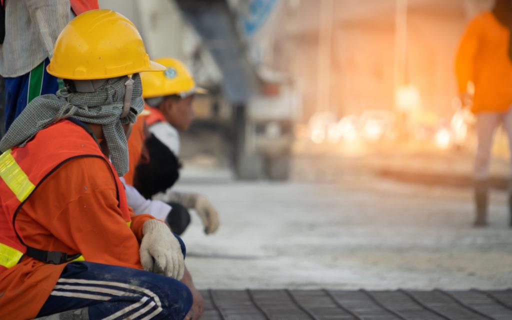 Construction, hard caps, security vest