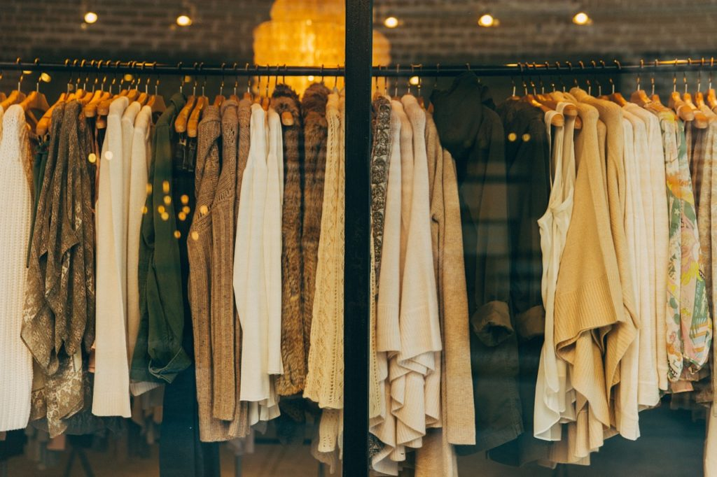 Clothes, shirts, hanging clothes, beige