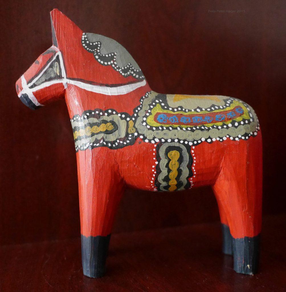 Horse, wooden horse, Dalecarlian horse