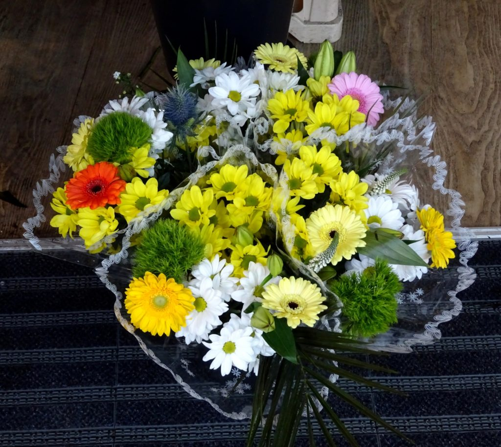 Flowers, bouqet, yellow flowers