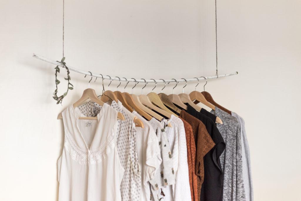 Clothes rack, clothes, dresses