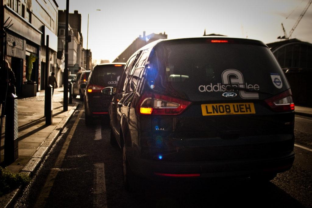 Addison lee, taxi, cab, road, sidewalk, drive, ride, taxi driver