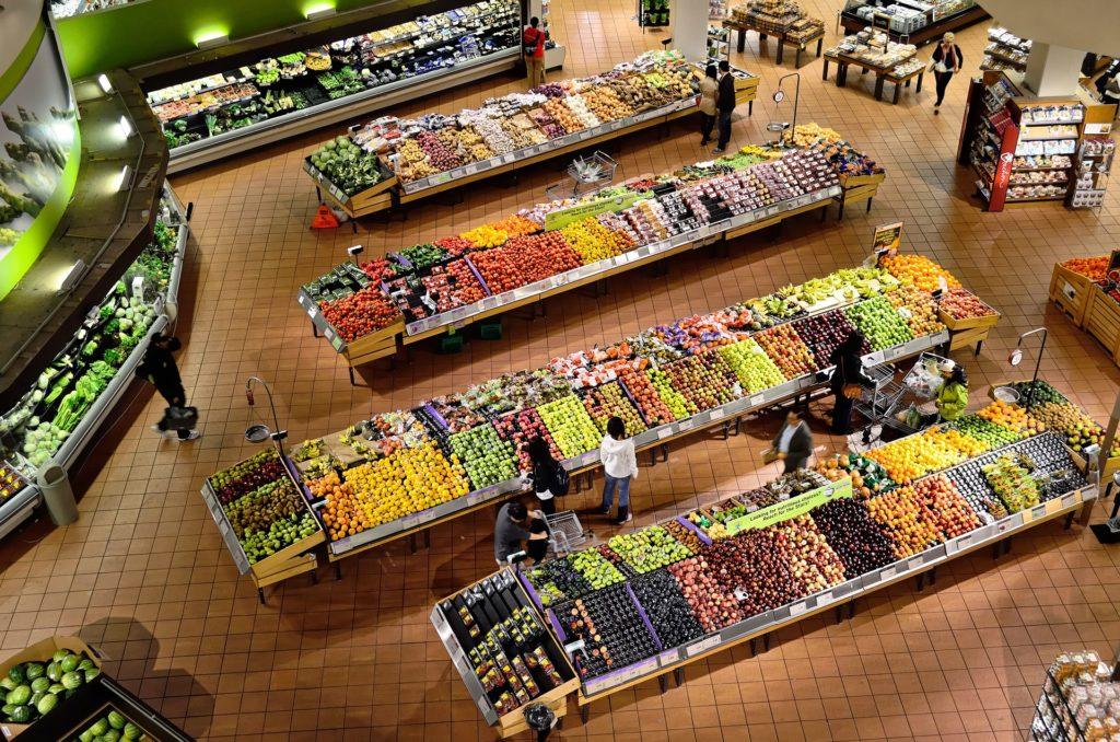 Supermarket, fruit, vegetables, food, shopping, food shopping