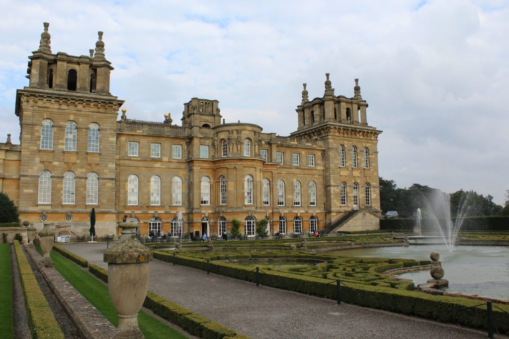oxfordshire, england, woodstock, blenheim palace, fountain, building, palace