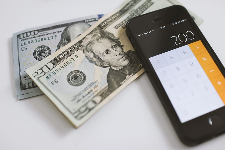 counting, dollars, calculator, smartphone, finance, paper, currency, business, udemy, banking