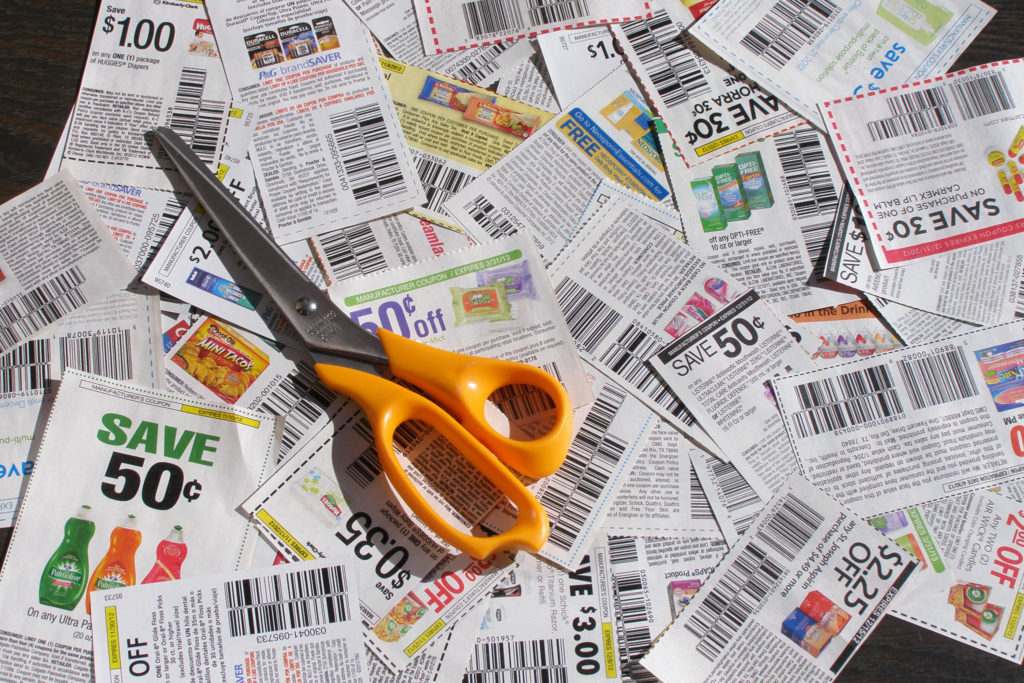 Clipping, Coupons, Scissors, Saving, Budgeting