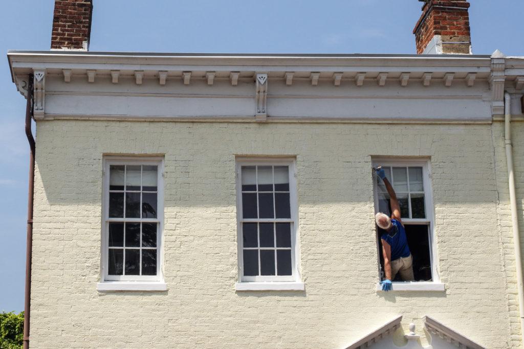 housepainting, painting, home improvement, house, windows, white